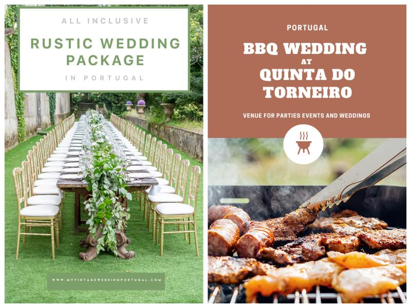 Rustic and BBQ Wedding Package Portugal
